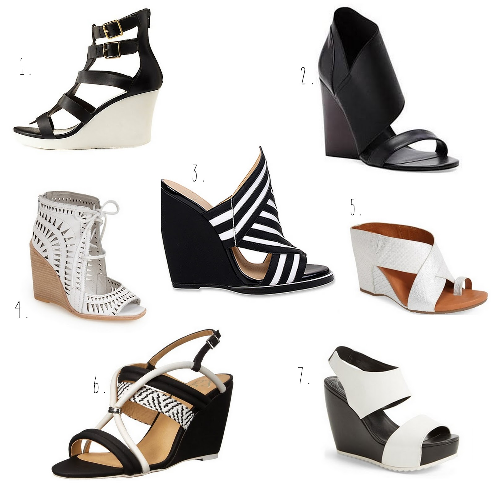 7 in SEVEN  BLACK AND WHITE WEDGES – simplycyn 0a0caeb699a6